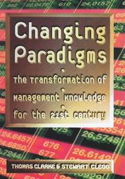 Cover of: Changing Paradigms | Thomas Clarke