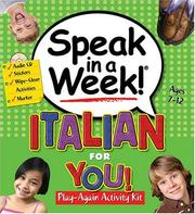 Cover of: Speak in a Week Italian for You! (Speak in a Week)