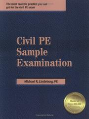 Cover of: Civil PE Sample Examination | Michael R. Lindeburg