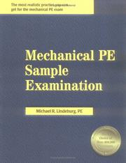 Cover of: Mechanical PE Sample Examination