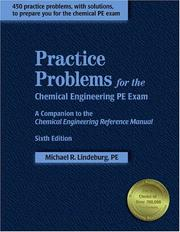 Cover of: Practice problems for the chemical engineering PE exam