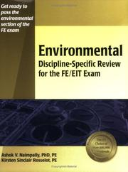 Cover of: Environmental discipline-specific review for the FE/EIT exam | Ashok V. Naimpally