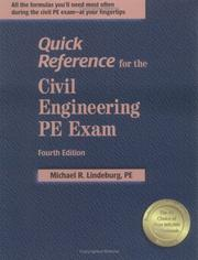 Cover of: Quick Reference for the Civil Engineering PE Exam, 4th ed