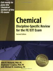Cover of: Chemical discipline-specific review for the FE/EIT exam