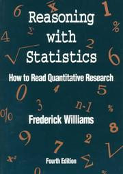 Cover of: Reasoning With Statistics by Frederick Williams