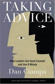 Cover of: Taking Advice | Dan Ciampa