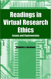 Cover of: Readings in virtual research ethics |