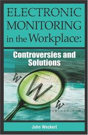 Cover of: Electronic Monitoring in the Workplace