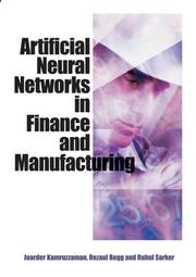 Cover of: Artificial Neural Networks in Finance and Manufacturing |