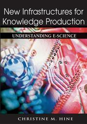 Cover of: New infrastructures for knowledge production |