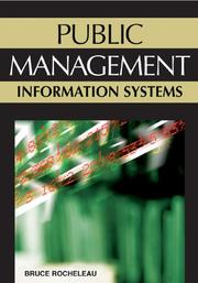 Cover of: Public management information systems