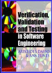 Verification, Validation and Testing in Software Engineering by