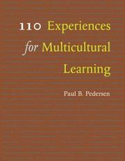 Cover of: 110 Experiences for Multicultural Learning