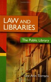 Cover of: Law and Libraries | Lee Ann Torrans