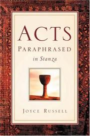 Cover of: Acts Paraphrased In Stanza | Joyce Russell
