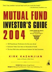 Cover of: Mutual Fund Investor's Guide 2004 (Mutual Fund Investor's Guide)