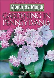Cover of: Month-by-Month Gardening in Pennsylvania