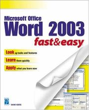 Cover of: Microsoft Word 2003 Fast & Easy