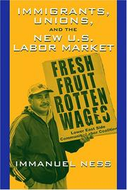 Cover of: Immigrants, Unions, And The New U.s. Labor Market |