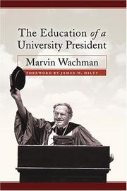 Cover of: The Education of a University President