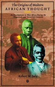 Cover of: The origins of modern African thought