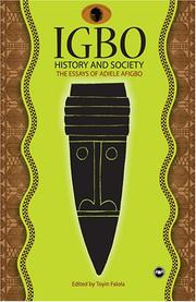 Cover of: Igbo History and Society: The Essays of Adiele Afigbo
