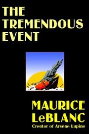 Cover of: The Tremendous Event