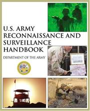 Cover of: U.S. Army reconnaissance and surveillance handbook