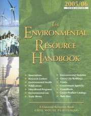 Cover of: Environmental Resource Handbook 2005-2006 (Environment Resources Handbook) | Laura Mars-Proietti