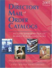 Cover of: The Directory of Mail Order Catalogs, 2007 | Richard Gottlieb