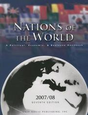Cover of: Nations of the World 2007 | Richard Gottlieb