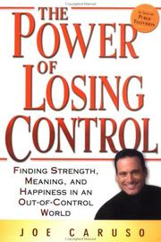 Cover of: The Power of Losing Control | Joe Caruso