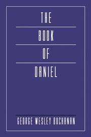 Cover of: The Book of Daniel (Mellen Biblical Commentary)