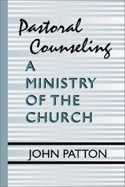 Cover of: Pastoral Counseling | John Patton