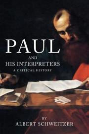 Cover of: Paul and His Interpreters | Albert Schweitzer