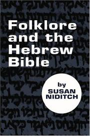 Cover of: Folklore and the Hebrew Bible