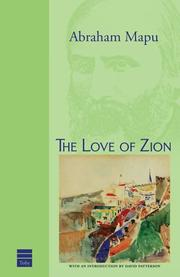 Cover of: The Love of Zion & Other Writings