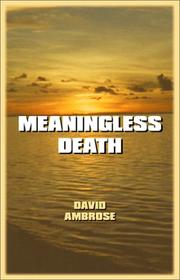 Cover of: Meaningless Death