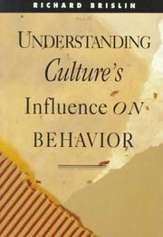 Cover of: Understanding culture's influence on behavior by Richard W. Brislin