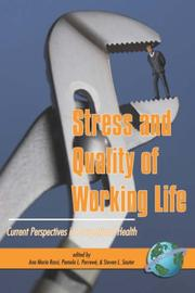 Cover of: Stress and Quality of Working Life |