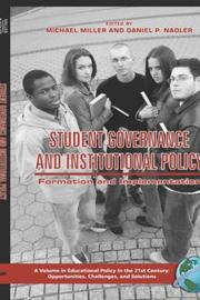 Student Governance and Institutional Policy by