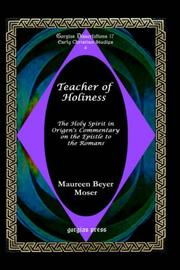 Cover of: Teacher of holiness | Maureen Beyer Moser