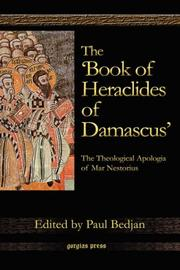 Cover of: The 'Book of Heraclides of Damascus'