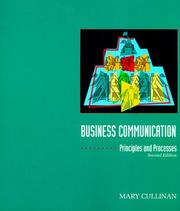 Cover of: Business communication | Mary Cullinan