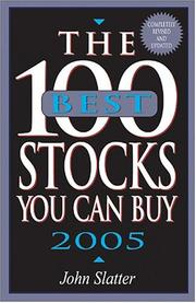 Cover of: The 100 Best Stocks You Can Buy 2005