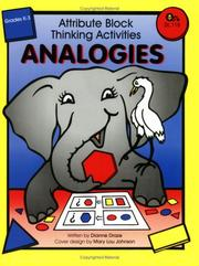 Cover of: Attribute Block Thinking Activities - Analogies