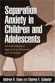 Cover of: Separation anxiety in children and adolescents |