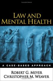 Cover of: Law and mental health | Robert G. Meyer