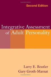 Cover of: Integrative Assessment of Adult Personality