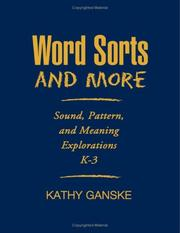 Cover of: Word sorts and more | Kathy Ganske
